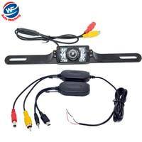 2 4G Wireless Waterproof Car Reverse Rear View Camera Backup Parking Camera Russia Waterproof Night Vision