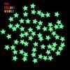 TCYJ825 Glow In Dark Glitter Yellow Green Light Color Long Last Glowing 6MM Star Shape Competitive