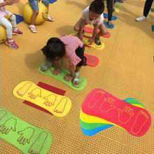 Pies 4pcs Mano Juego de Niños Deporte estera del juego para el bebé Salto de arrastre Actividad de espuma EVA Mat interior juguetes al aire libre