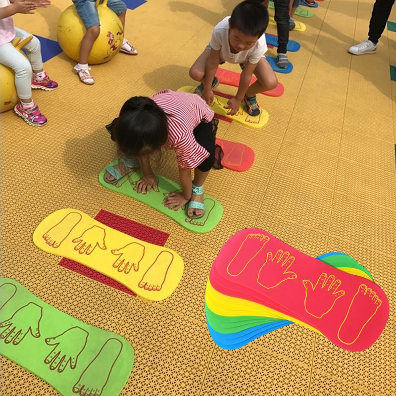 4Pcs Hand Feet Game Kangaroo Jumping Kids Foam Eva Floor Baby Play Mat Crawling Activity Sensory Integration Children Sport Toys
