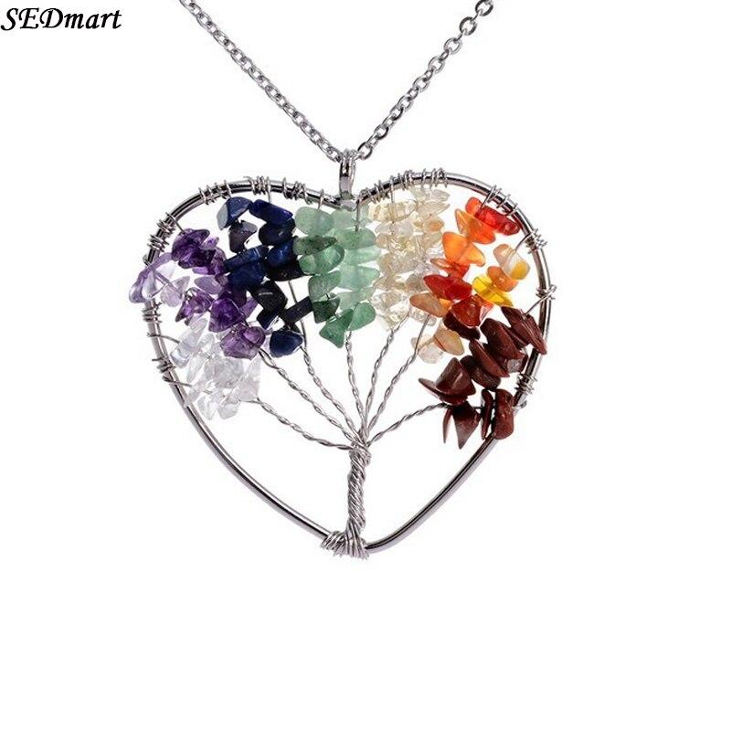 2018 Handmade Tree Of Life Pendant Heart Necklace Women