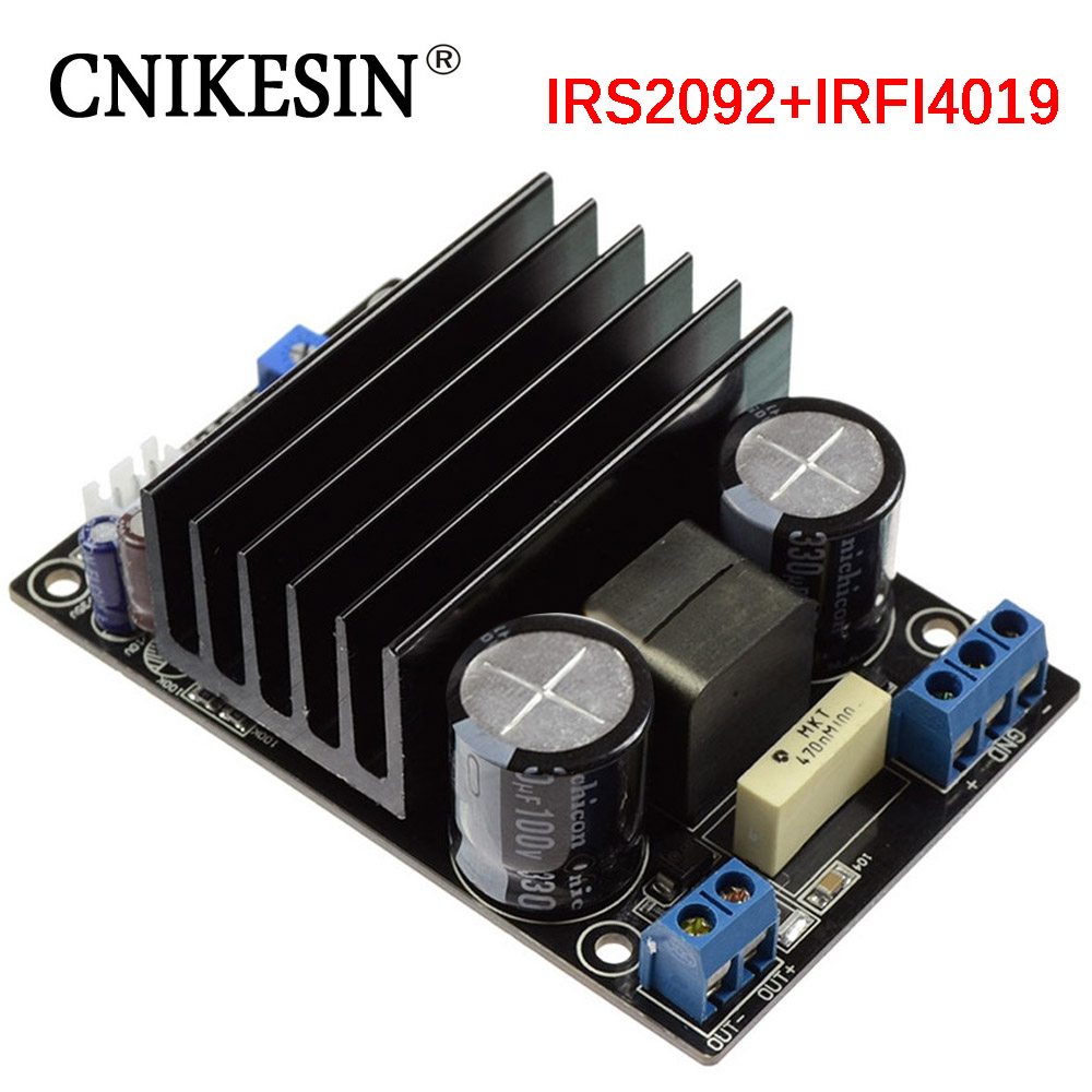 cnikesin 200w subwoofer dc power supply high power irs2092 irfi4019 single sound track d class. Black Bedroom Furniture Sets. Home Design Ideas