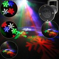 En plein air Blanc RGB LED Motif De Neige De Noël Projecteur Boutique Maison danse Disco Party De Noël Arbre DJ Mur Paysage Jardin Lumière T82