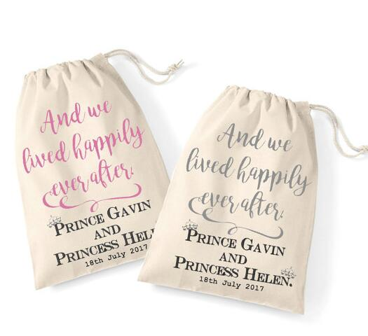 Personalized Fairytale Wedding His And Her Bachelorette Hangover Kit Favor Keepsake Gift Bags Bridal Shower Party
