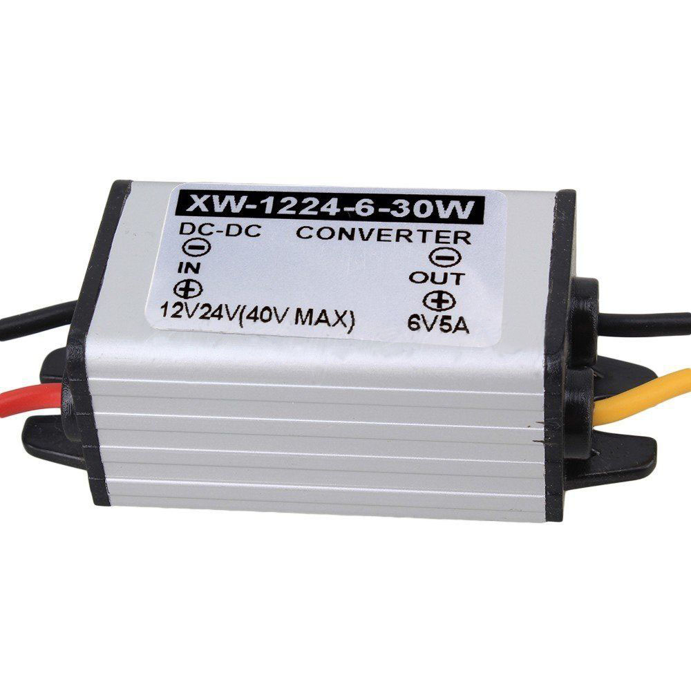 Car Power Converter Adapter DC 12V 24V Step Down To DC 6V 5A 30W For LED Display