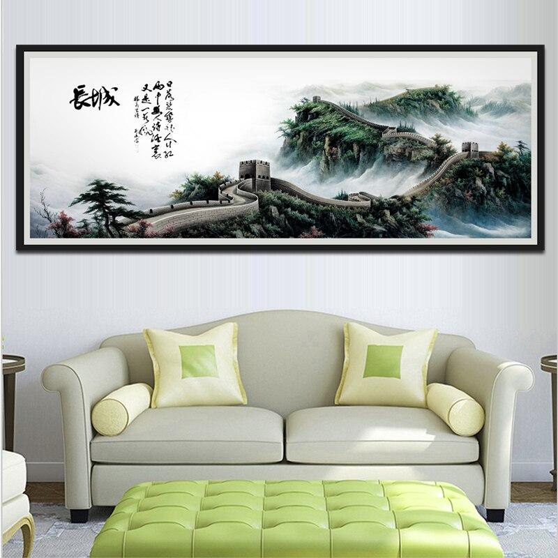 1 Stuk Klassieke Chinese Stijl Unframed Muur Foto De Grote Muur Canvas Schilderij Voor Woonkamer Sofa Wanddecoratie