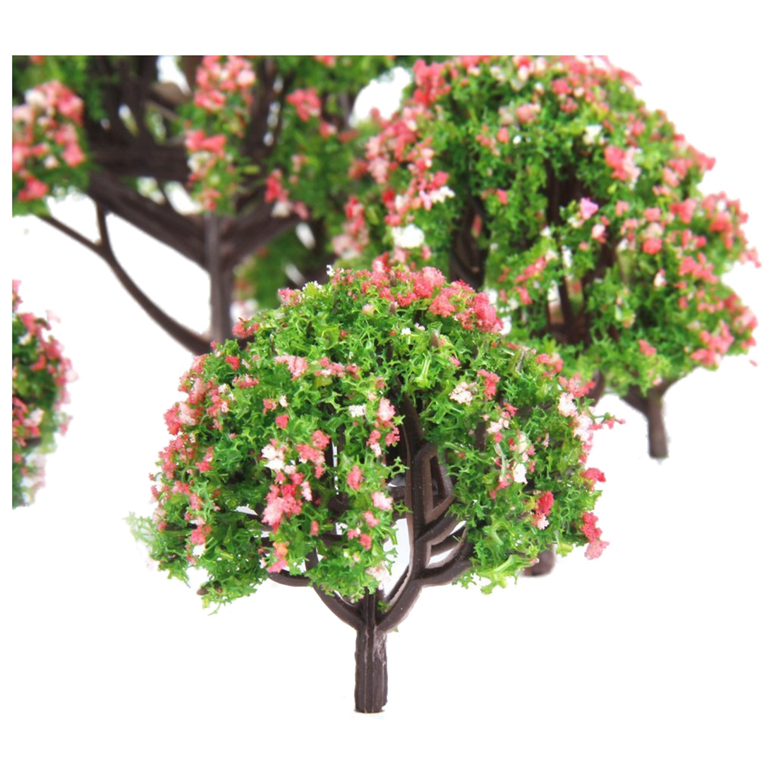 Plastic peach trees model railway railway landscape scale 1:75 - 1: 500