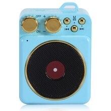 все цены на Portable Mini Retro Bluetooth Wireless Speaker Support Stereo Bass Tf Card Fm Radio Nostalgic Atomic Record Player Speaker онлайн