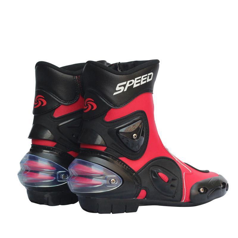 Buty motocyklowe skórzane wodoodporne buty jeździeckie z mikrofibry motocykl Motocross Off-Road ochronne obuwie na motor