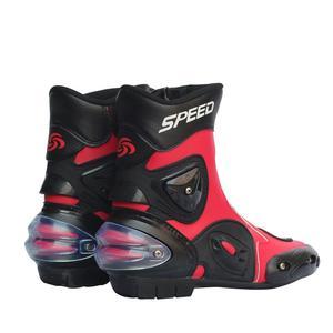 Image 3 - Đua Xe Máy Giày Da Chống Thấm Nước Đi Giày Microfiber Xe Máy Motocross Off Road Bảo Vệ Bánh Răng Moto Giày