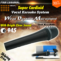 Quality Supercardioid Vocal Dynamic Wired Microphone For e945 e 945 PC Computer Karaoke Mic Mikrofon Microfone Com Fio Microfono
