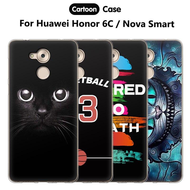 Чжурчжэней чехол для <font><b>Huawei</b></font> Honor 6C Обложка Силиконовые Мягкий для крышки <font><b>Huawei</b></font> <font><b>Nova</b></font> <font><b>Smart</b></font> <font><b>Case</b></font> для Honor 6C/ наслаждайтесь 6 S телефон Сумки