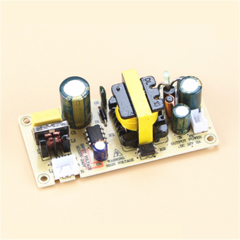AC-DC 12V 2A 24W Switching Power Supply Module Bare Circuit 220V to 12V Board for Replace/Repair