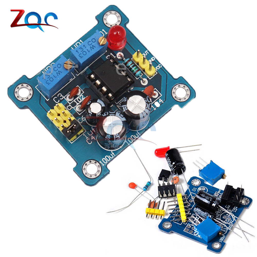 NE555 Pulse Generator Pulse Starter Duty Cycle and Frequency Adjustable Module DIY Kit Oscillator Square Wave Signal Generator exerpeutic lx905 training cycle with computer and heart pulse sensors