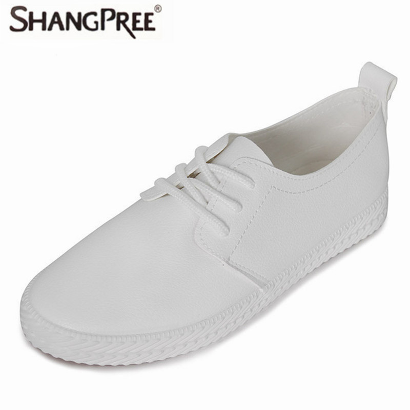 2017 Hot fashion high quality Women Flats Shoe Casual Leather Shoes For Women flat Shoes Round Toe Lace-up Muffin Female Shoes 2017 high quaitily casual fashion 014