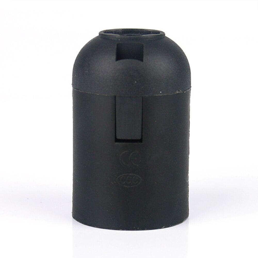 Bases da Lâmpada do vintage preto levou acessórios Matéria-prima : Latão, plástico