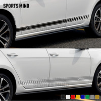 1 Pair Customizable Car Styling For Fiat Punto GT Abarth Evo Grande Punto Accessories Door Side Strip Car Decal Sticker