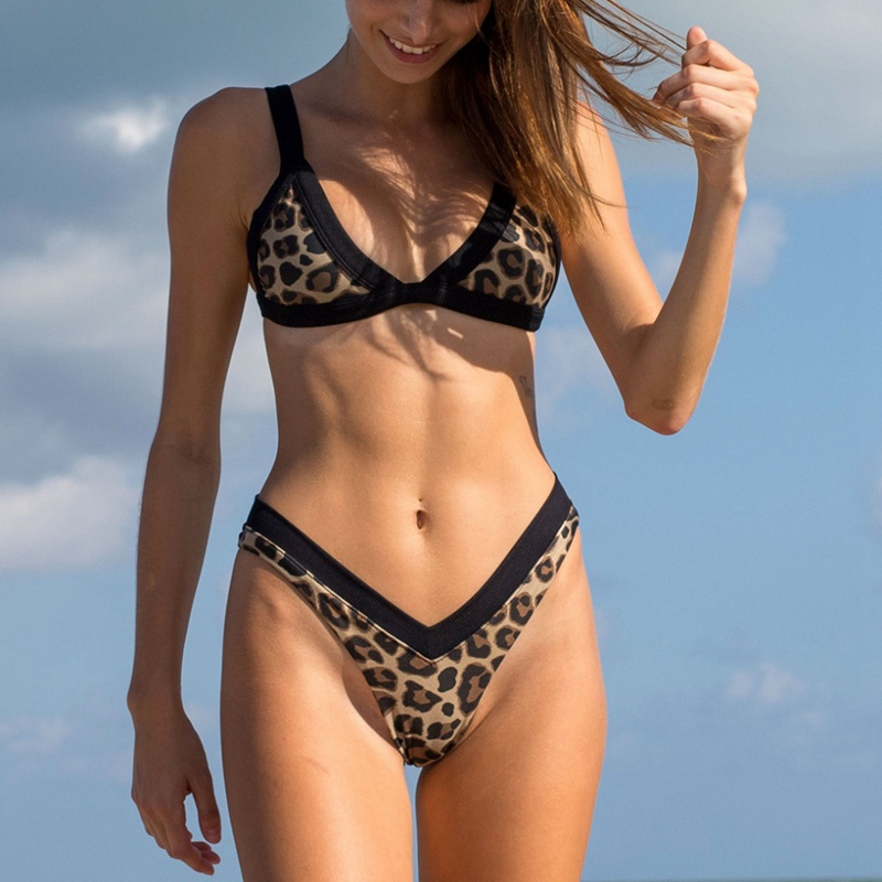 Have An Inquiring Mind Women Swimsuit 2019 Sexy High Waist Bikini Push-up Padded Bra Beach Swimwears Enchanting Swimsuits Leopard Print Biquini B15 Famous For High Quality Raw Materials And Great Variety Of Designs Full Range Of Specifications And Sizes