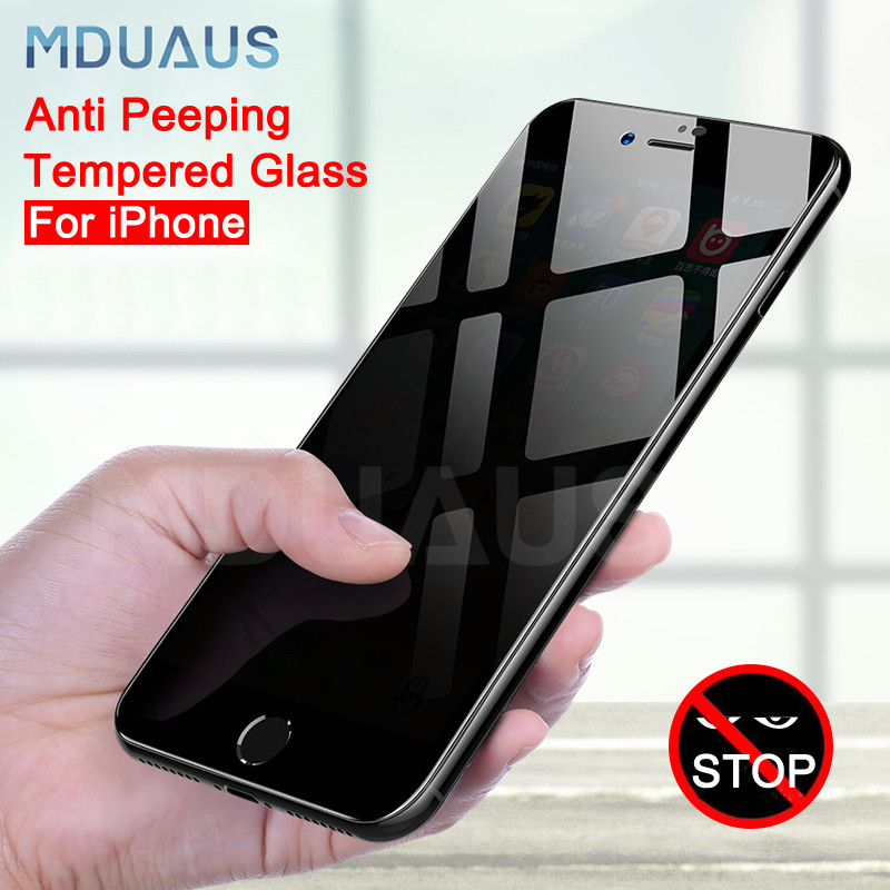 Tempered-Glass Screen-Protector Privacy iPhone 7 Xs Max 6S for XR 5/5s/Se 8-Plus film-Case