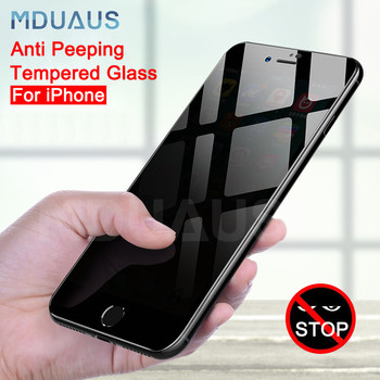 Privacy Protective Tempered Glass on the For iPhone X XR XS MAX 5 5S SE Screen Protector For iPhone 7 6 6S 8 Plus Film Case