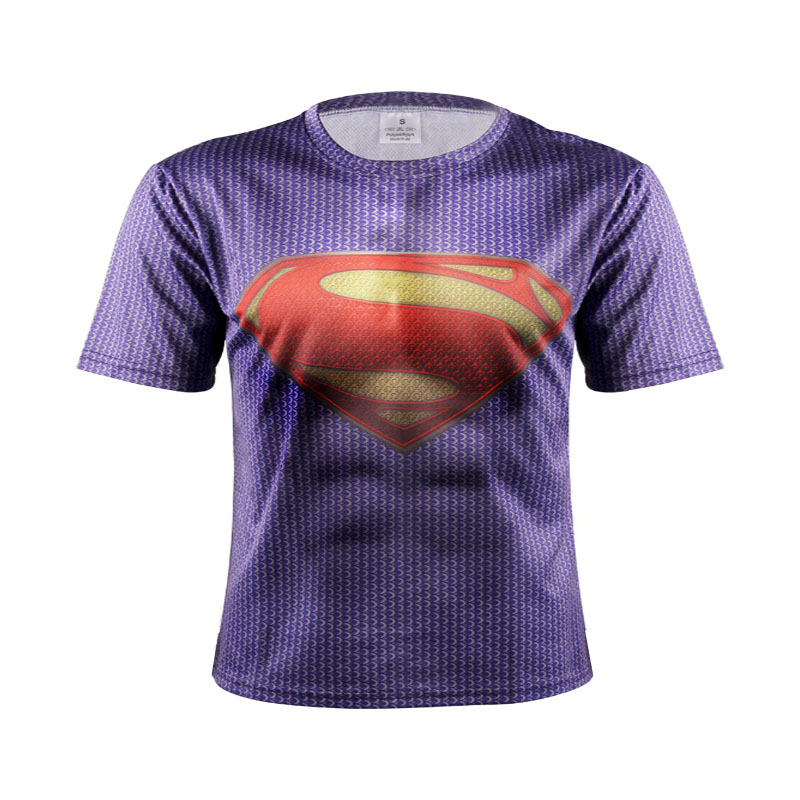 2017 Mens short sleeve 3 d T-shirt High quality Spiderman Superman Captain America Batman/Iron man/The hulk tights t shirt men