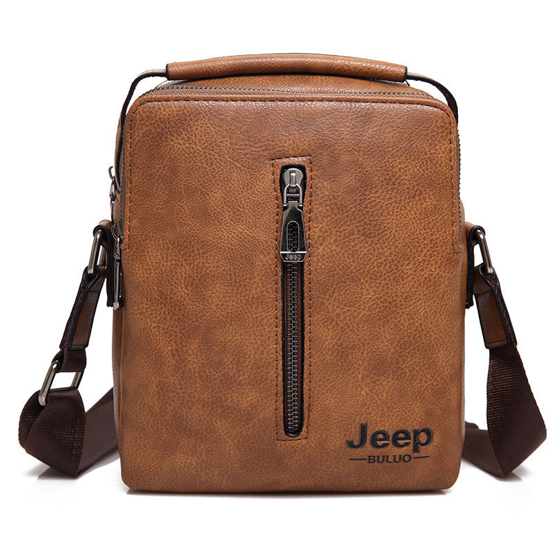 New JEEP BULUO Famous Brand Bag Men PU Leather Messenger Bag Business  Briefcase Casual Shoulder Bags Male High Quality Totes Bag fbabbcdf5a778