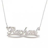 Wholesale Sterling Silver Infinity Name Necklace Nameplate Pendent Personalized Letter Jewelry Fashion Women Christmas Gift