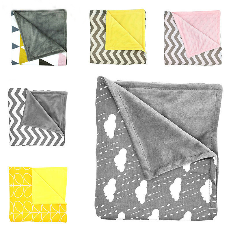 Baby Blankets Newborn Baby Swaddle Wrap Blanket Fleece Soft Chevron Cloud Minky Kids Bath Towel Bedding Crib Stroller Blankets