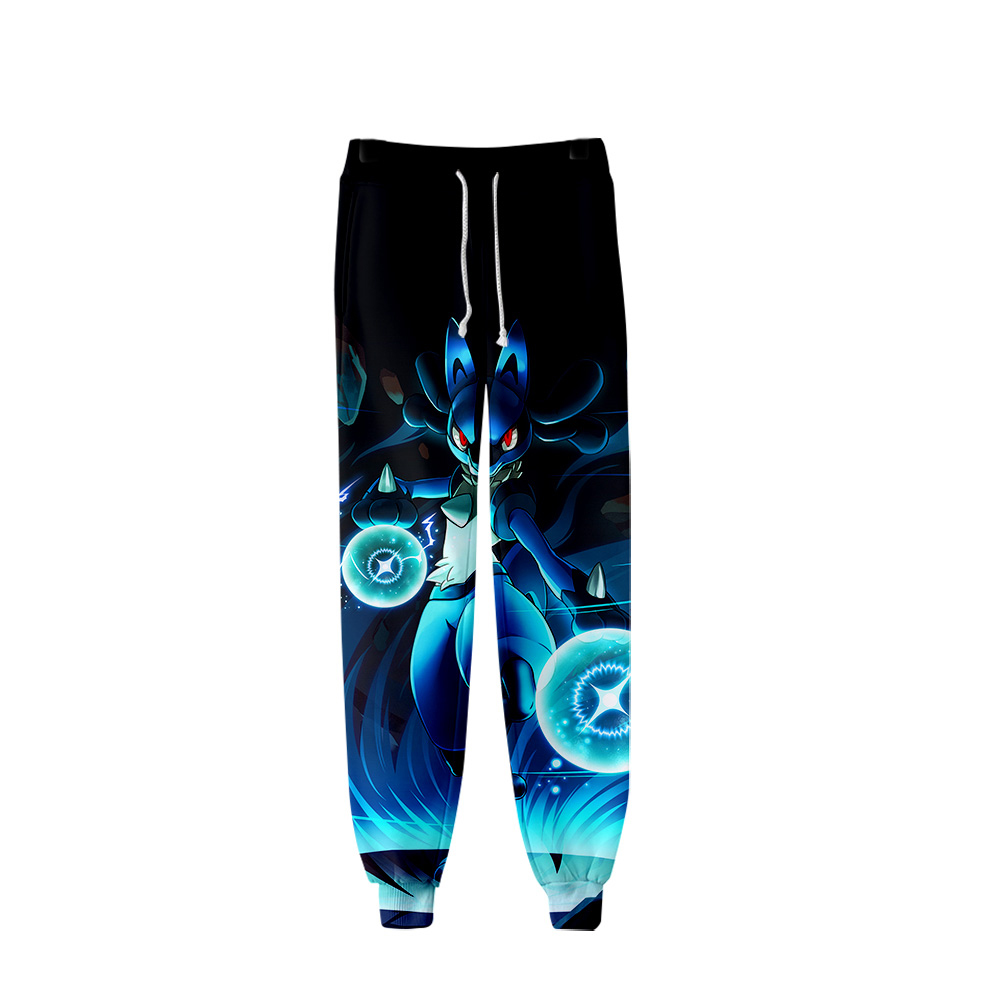 2019 Pokemon Pants Men Hip Hop Pants Trousers Kpop Fashion Casual High Quality Casual Warm Pants Slim Pokemon Pants