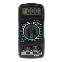цена на Professional XL830L Digital Multimeter AC DC OHM Volt Tester Backlight Current Resistance Multi Ammeter Voltmeter Tester