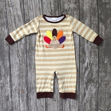 new Thanksgiving turkey cotton Fall baby girls full sleeve infants soft light striped brown gift tutu