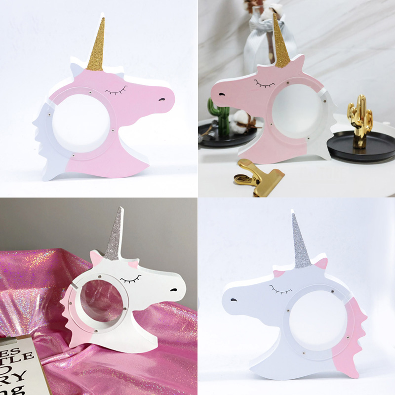 Money Storage Handmade Unicorn Shape Ins Nordic Series Coin Bank Home Decoration Wooden Money Box  Household Products