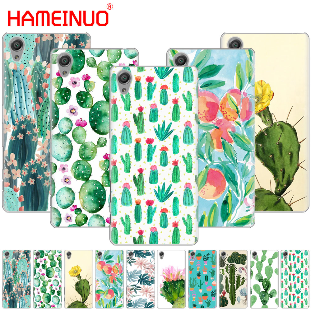 Hameinuo Green Cactus Flower Design Cover Phone Case For Sony Xperia C6 Xa1 Xa2 Xa Ultra X Xp L1 L2 X Xz1 Compact Xr/xz Premium To Adopt Advanced Technology Half-wrapped Case