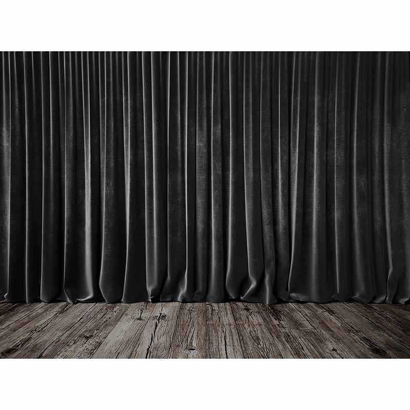 Allenjoy Photography Background Black Stage Curtains Wooden Floor Wedding Theme Backdrop Photo Studio Camera Fotografica In From Consumer