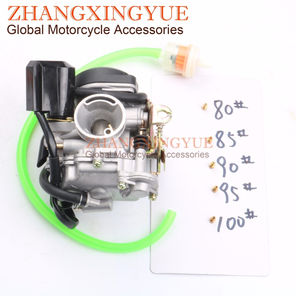 20mm Big Bore Performance <font><b>Carburetor</b></font> for <font><b>GY6</b></font> 139QMB <font><b>50cc</b></font> -100cc Scooter Carb Ken CVK + 80 # 85 # 90 # 95 # 100 # main hole image