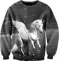 Novo 2015 clássicos dos homens/mulheres asa cavalo e unicórnio camisola do hoodie 3d impresso harajuku unicórnio camisa roupas femininas