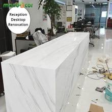 Papel tapiz de mármol impermeable, Película autoadhesiva de vinilo, decoración para las paredes del salón, gabinetes de cocina, escritorio, cajón, contacto de papel, 1M/2M