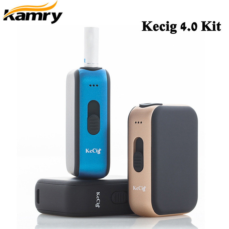Original Kamry Kecig 4.0 kit 650mah Battery for heating Tobacco  cartridge KeCig4.0 Heat Box Vape E Cigarette VaporizerElectronic  Cigarette Kits