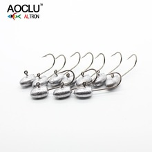 AOCLU Bared No painting jig head 10pcs/lot from 2.5g around for soft lure jigging sharp fishing hooks bared blade