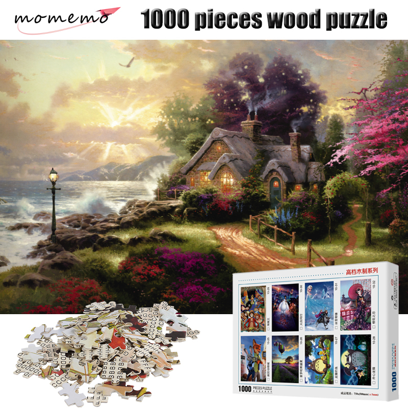 Momemo The Home Wooden Puzzle Adult 1000 Pieces Jigsaw Landscape Wooden Puzzle Children Educational Toy Christmas Gift Puzzles