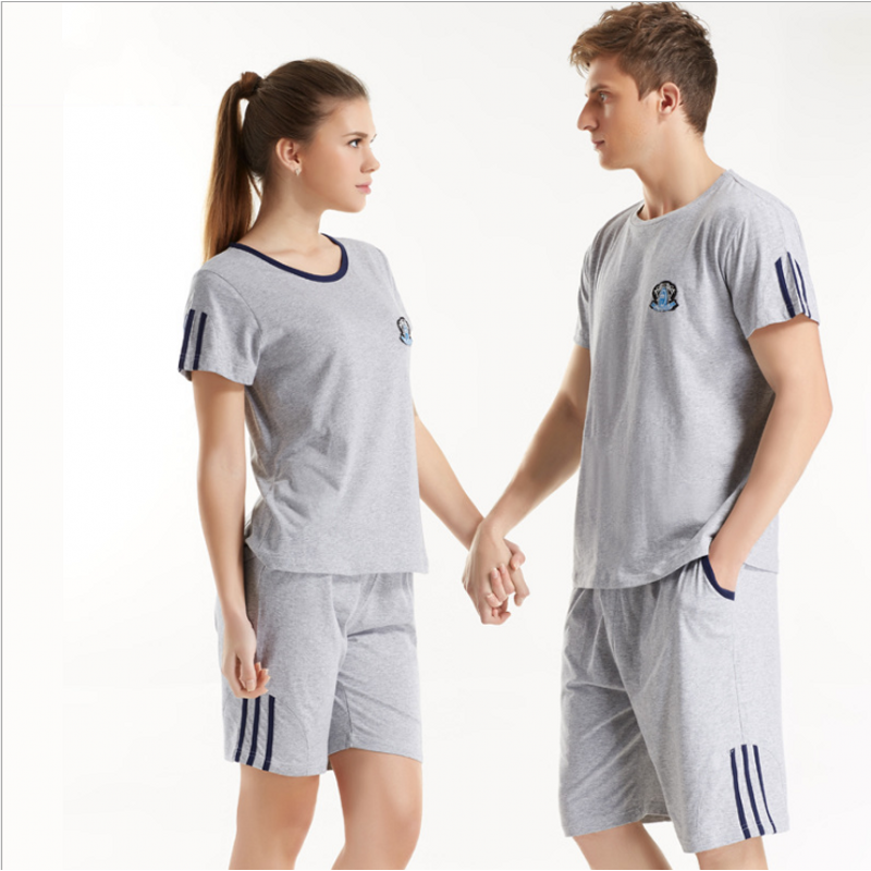 2019 Brand Homewear Men Summer Casual Pajama Sets Male Short Sleeve O-neck Collar T Shirt & Half Pants Men Cotton Sleepwear Suit