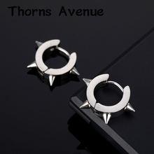 New Fashion Silver Gold Color Crystal Earrings Small Hoop Circle Stainless Steel For Women Men Jewelry