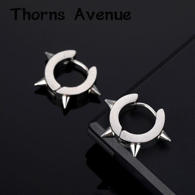 New Fashion Silver Gold Color Crystal Earrings Small Hoop Earrings Circle Stainless Steel Hoop Earrings For Women Men Jewelry