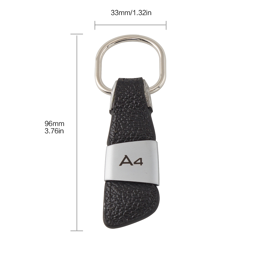 1x High Quality Leather Alloy Key Ring Black Chain For All AMG Model Fob Case
