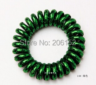 Big Size 5cm Matallic Hair Tie Telephone Wire Coil Band Metallic Elastic  Hair Band Ponytail Holder Hair Accessories 2Pieces Lot 998b15dc288