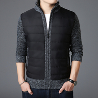 2018 New Fashion Brand Sweaters Mens Cardigan Thick Slim Fit Jumpers Knitwear Zipper Warm Winter Korean Style Casual Men Clothes