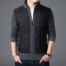 2020 nowa marka modowa swetry męskie sweter gruby Slim Fit swetry dzianina zamek ciepły zimowy koreański styl Casual Men Clothes