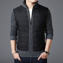 ¡Novedad de 2020! suéteres de marca de moda cárdigan grueso y ajustado para hombre, jerséis con punto y cremallera, ropa informal cálida de estilo coreano para invierno para hombre