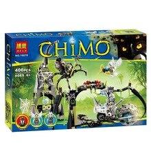 BELA 10078 legend Spinlyn's Cavern building Block sets DIY Model minifigure toys for children