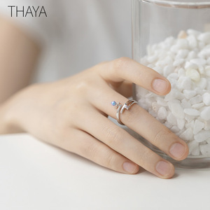 Image 5 - Thaya Midsummer Nights Dream Design Rings Vintage Colored Pearls S925 Sterling Silver Jewelry Ring For Women
